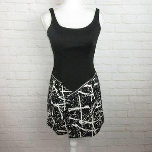Guess women's size 1 Black and White Zipper Dress